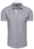 Стрейчевая мужская рубашка в полоску. 1702