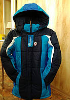 Яркая зимняя куртка на овчине на мальчика 6,7,8 лет
