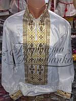 Мужская сорочка под вышивку бисером или нитками.