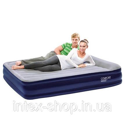 Двуспальная надувная кровать Bestway 67444 (203x152x38 см.) со встроенным электрическим насосом, фото 2