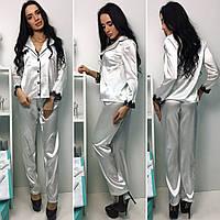 Пижама женская с брюками  атлас