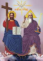 Схема для вышивки бисером Троица Отец, Сын и Дух Святой