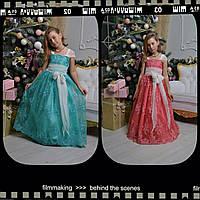 Детское Платье нарядное с бантом