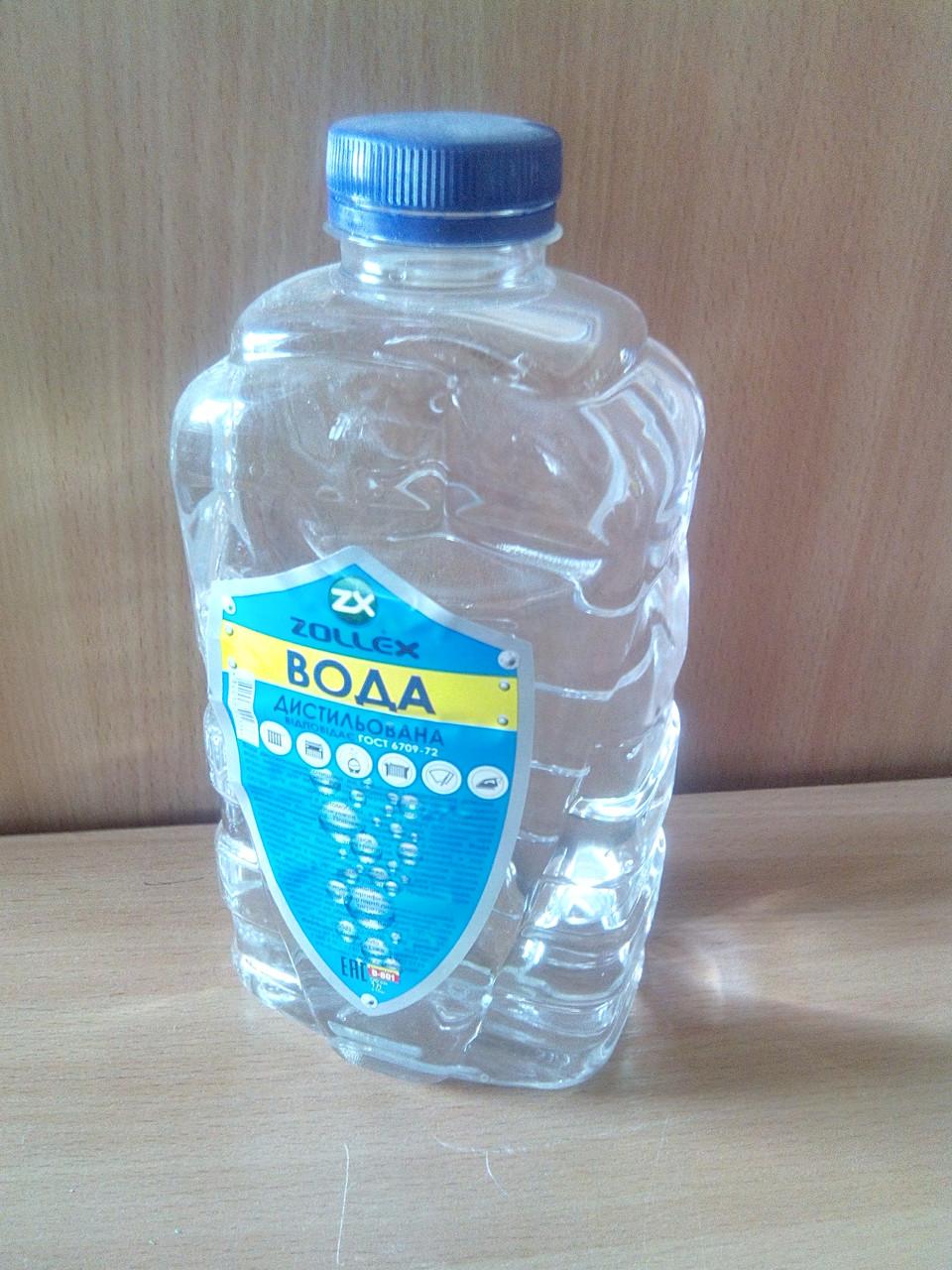 Вода дистилированая 1,0 л.