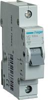Выключатель автоматический 1П, 6А, характеристика С, Hager MC106A