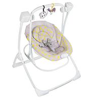 Кресло-качалка Graco COZY DUET MINI MONO цвет серый желтый горох Graco 1V50MIOE