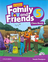 Учебник по английскому языку Family and Friends 5 Second Edition Class Book + MultiRom