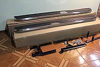 Подножки наружные боковые (алюминий со вставкой из нержавейки) для Volkswagen Touareg 2011+