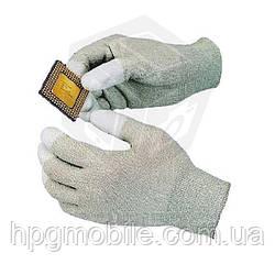 Антистатические перчатки Goot WG-4M с полиуретанным покрытием на кончиках пальцев, размер M