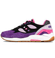 Женские кроссовки Feature x Saucony G9 Shadow 6 High Roller Purple/Black,саукони
