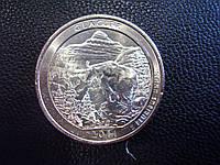 25 центов 2011 США Глейшер (Glacier) 7-й парк