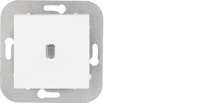 Выключатель С110-556 одинарный с подсветкой без рамки скрытой установки Уют, Биэлектрика