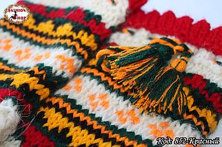 Женские красные носки из настоящей овечьей шерсти Гойра, фото 3