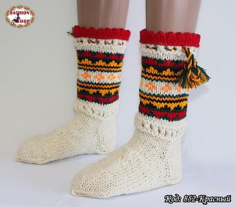 Женские красные носки из настоящей овечьей шерсти Гойра