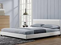 Елегантная кожаная кровать BARCELONA 160х200 см.