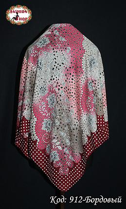 Женский бордовый платок Симфония, фото 2