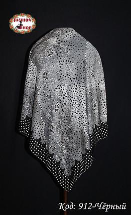 Женский чёрный платок Симфония, фото 2