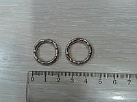 Колечко фигурное, серебро 20 мм