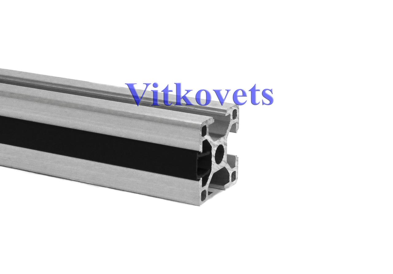 Линейная заглушка для алюминиевого профиля 8х2000мм (черная)