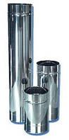 Труба из нержавеющей стали одностенная основной элемент дымохода для печи, котла, каменки, камина