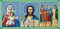 Схема для вышивки бисером Триптих Молитва о семье