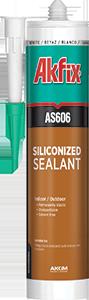 Силиконизированный акриловый герметик Akfix AS606 коричневая (310мл), фото 2