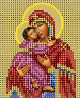 Схема для вышивки бисером Икона Божией Матери Владимерская