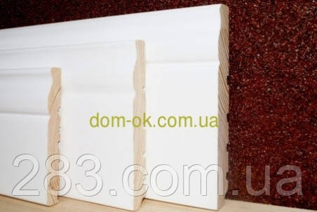 Плинтус деревянный белый ТИП 24* 135*20мм Под заказ