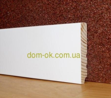 Плинтус деревянный белый высокий ТИП 25* 100*16мм