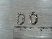 Колечко фигурное, овальное, серебро 10х20 мм