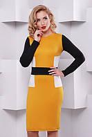 Стильное трикотажное женское платье Надежда Lenida 42-50 размеры