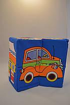 Мягкие кубики для малышей 10/10 см (4 шт) техника