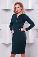 Женское трикотажное платье с длинным рукавом Жасмин бутылка Lenida 42-50 размеры