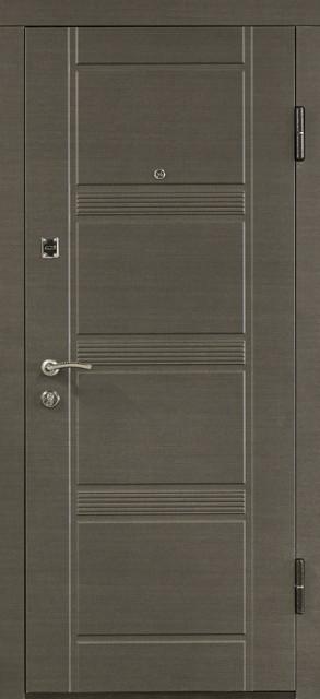 """Входная дверь металл """"Венге серый горизонтальный"""", ПО-29"""