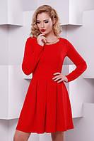 Молодежное красное платье Кокетка  Lenida 42-50 размеры