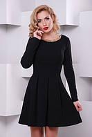 Молодежное черное платье Кокетка  Lenida 42-50 размеры