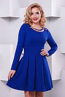 Молодежное  платье Кокетка электрик  Lenida 42-50 размеры