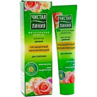 Чистая линия Крем для лица Насыщенный, увлажняющий для сухой кожи с экстрактом лепестков роз