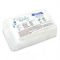 Салфетки одноразовые нарезные 6х10 (100 шт) белые с тиснением