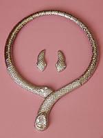 Колье змея и серьги, фото 1