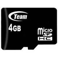 Память Micro-SDHC  4Gb Team cl10   ( без SDадаптера)
