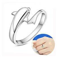 Cеребрянное кольцо «Озорной дельфинчик»