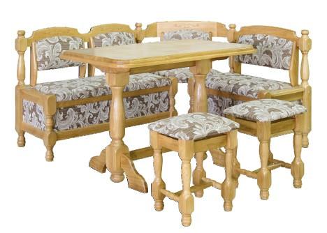 Мягкий кухонный уголок Мебель-Сервис дуб