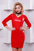 Стильное красное молодежное платье Дионис   Lenida 42-50 размеры