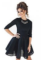 Женское Платье неопрен сетка