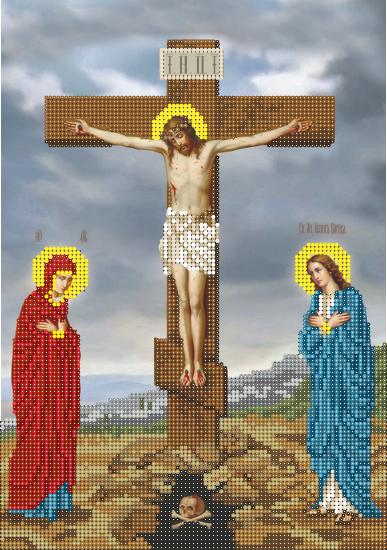 Схема для вышивки бисером Распятие Христа