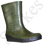 Сапоги резиновые зеленые мужские