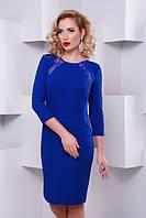 Элегантное женское платье Долли электрик  Lenida 42-50 размеры