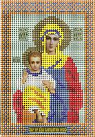Схема для вышивки бисером Икона Богородицы Благодатное небо