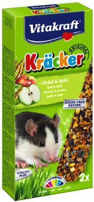 Vitakraft Kracker Corn&Fruits Крекер для крыс с зерном и фруктами